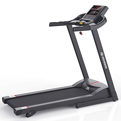 ADVENOR Treadmill Motorized Treadmills 2.5 HP Electric Running Machine Folding Exercise Incline Fitness Indoor (Black)