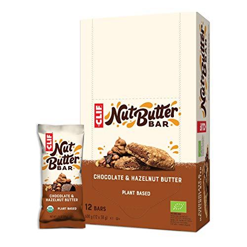 CLIF Bar – nötsmör fylld bar riegel choklad hasselnötssmör, 12 x 50 g