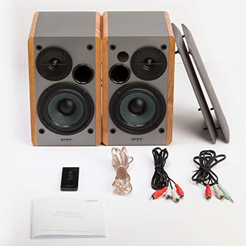 Edifier R1280T Powered Bookshelf Speakers - 2.0 Stereo Active Near Field Monitors - Studio Monitor Speaker - Wooden Enclosure - 42 Watts RMS