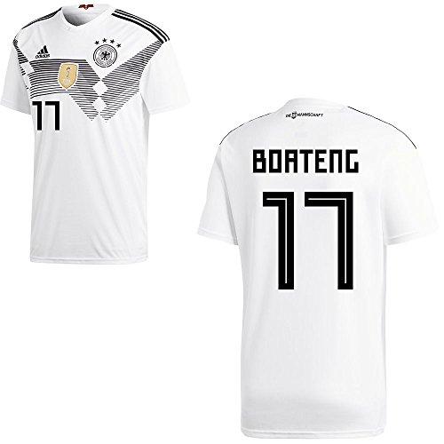 adidas DFB Deutschland Fußball Trikot Home Heimtrikot WM 2018 Herren Kinder mit Spieler Name Farbe Boateng, Größe M