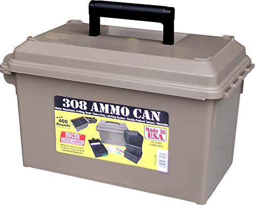 MTM ACC308 308-Caliber Ammo Can with 4 RM-100 Boxes, Dark Earth, 1 Pack