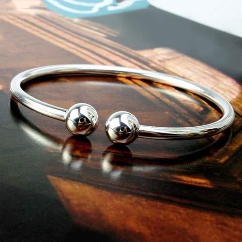 Damen Armband Armbänder Armband, Mode Persönliche Elegante Silber Überzogene Armband Einfache Stil Offene Handschellen Knoblauch Armreif Für Frauen Offene Hand Manschette Einstellbare Armreif Mode
