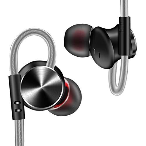 Guangcailun DM10 Auriculares magnética de 12 mm de Metal Universal de Auriculares in-Ear del Ordenador portátil de 3,5 mm de teléfono del Juego botón de los Auriculares