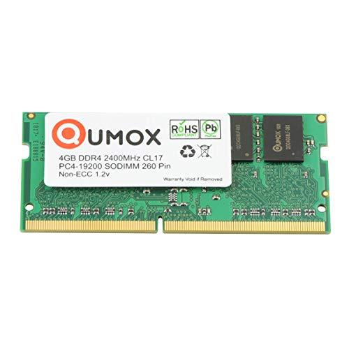 QUMOX 4GB DDR4 2400 2400MHz PC4-19200 PC-19200 (260 Pin) Memoria SODIMM 4GB