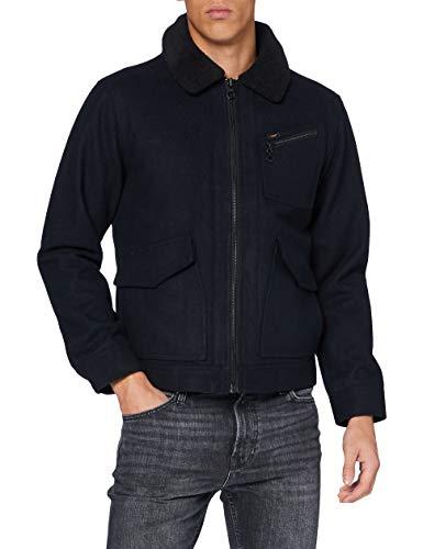 Lee 191J Wool Jacket Chaqueta, Negro, L para Hombre