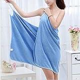 IAMZHL 2020 New Home Textile Towel Women Robes Bath Wearable Towel Dress Womens Lady Dry Drying Beach SPA Magical Nightwear Sleeping-Blue