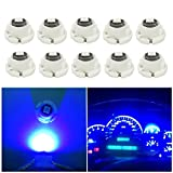 WLJH 10x Blue T4.7 Neo Wedge Led 3030SMD Chip 12mm Base Led Car