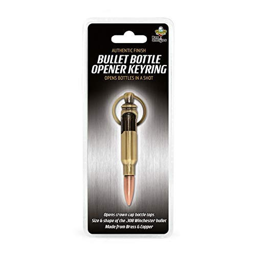 Gift House International Llavero abrebotellas Retro Militar IGGI™, en Forma de Bala para Winchester de Calibre 308