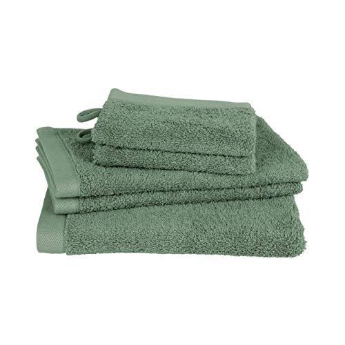 Juego de toallas Clarysse de 5 piezas, juego de toallas de baño de calidad superior, 100% algodón peinado, calidad de hotel, set de baño, marca belga, 500 g/m2, color gris
