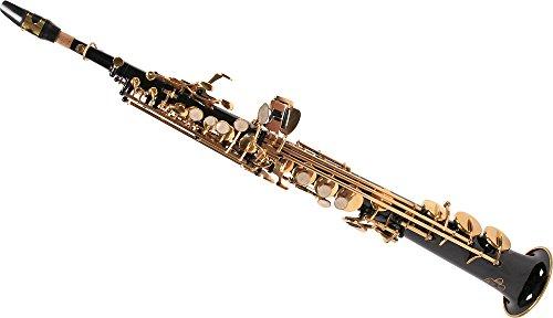 Karl Glaser Sopran Saxophon, gerade, schwarz/gold, mit Koffer