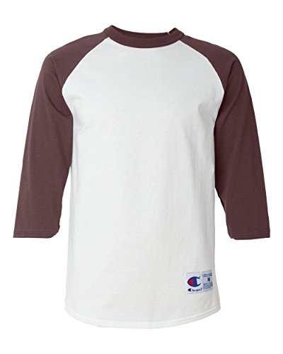 Champion Camiseta masculina de beisebol raglan