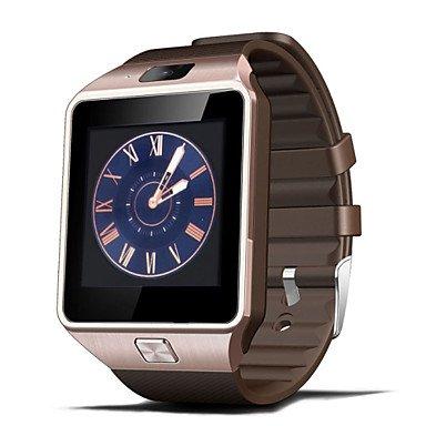 HISTON dz09 touchscreen intelligent smart horloge telefoon paar voor iPhone ios Samsung Android, zwart
