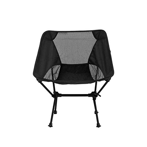 JIAODIE Portable Beach Chair with Carry Bag, Lightweight Foldable Folding Portable camping Chair for Fishing BBQ Picnic Garden Waterproof, Load Up 120kg,Black