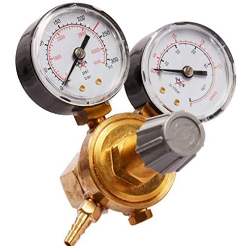 Cobeky Argon CO2 Regulador de presión de cilindro de gas MIG TIG Medidor de flujo de soldadura Medidor de presión W21.8 1/4 Rosca 0-20 Mpa Regulador