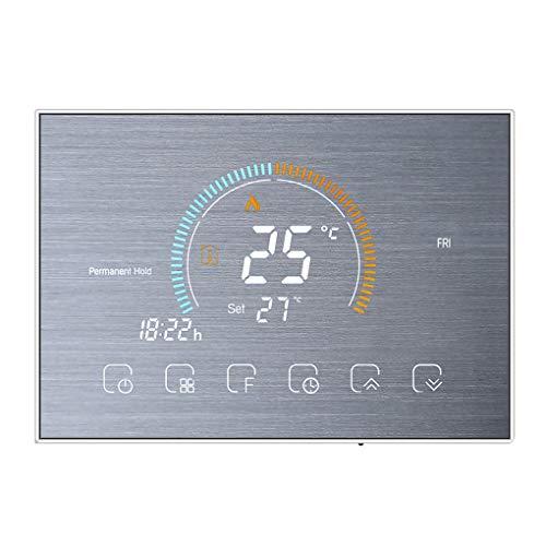 Weilifang Termostato Programable de 5 + 1 + 1 Temperatura retroiluminada Termostato LCD Agua de calefacción Controller, Silver