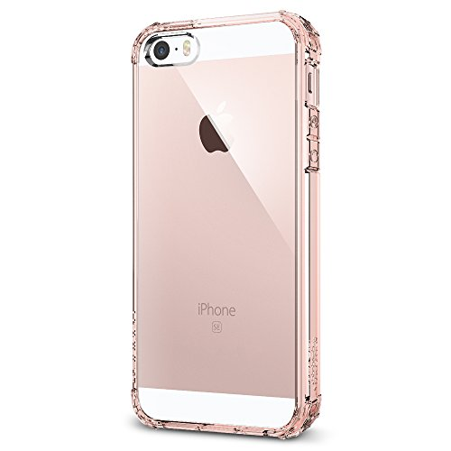 Spigen Cover iPhone 5S, Cover iPhone SE 2016 Crystal Shell Progettato per iPhone 5S / 5 / SE 2016 Cover Custodia - Rose Crystal