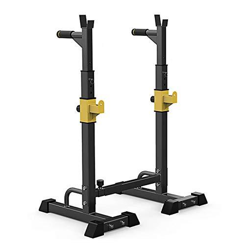 Barbell Squat Rack Stands, Barbell Ajustable Multifunción Multifunción Levantamiento de peso Banco de elevación, Rack Max Cargar 550IB, Home Gym Fitness Fuerza de interior Trenin, adecuado para adulto