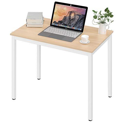 UMI. by Amazon Escritorio de computadora pequeño Escritorio de Oficina en casa Mesa de computadora Resistente Escritorio de Estudio de Madera Computadora portátil Estación de Trabajo 80 * 50cm Blanco
