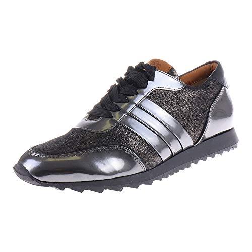Hassia Damenschuhe Sneaker Barcelona Weite H Antrazit Schwarz 63019836201 (UK 5)