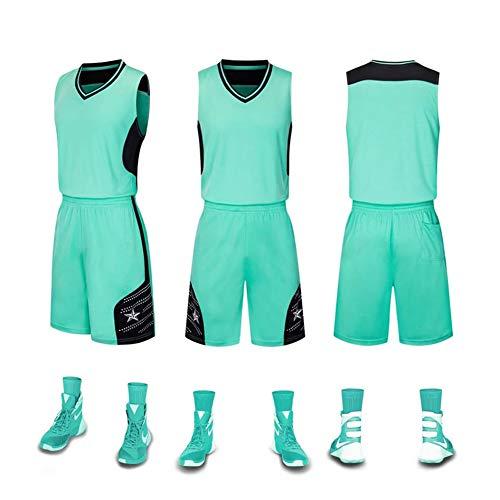 Vêtements d'entraînement Maillots de Basket-Ball, Uniformes de Baseball, Uniformes pour Enfants Débardeurs pour Hommes T-Shirts sans Manches Vert-XS