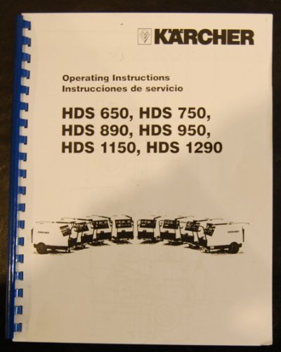 Karcher HDS Series, Pressure Washers, Instruction Operation Parts Manual