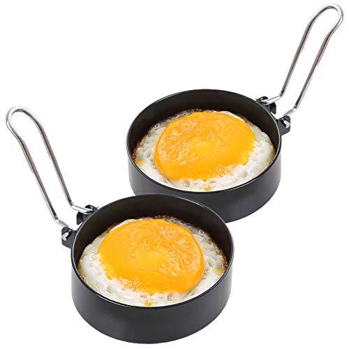 Anillos de Huevo Antiadherentes, Speyang 2 Piezas Moldes para Huevos Fritos de...