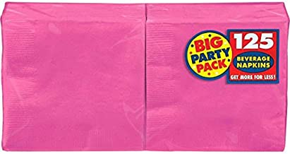 Big Party Pack Bright Pink Beverage Paper Napkins, 125 Ct.