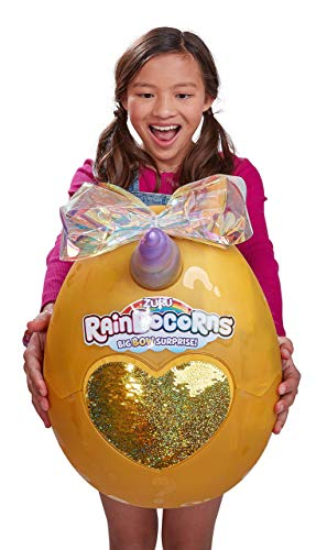 Rainbocorns Giant Big Bow Surprise Mystery Egg (Includes 25+ Surprises!) by Zuru - Unicorn