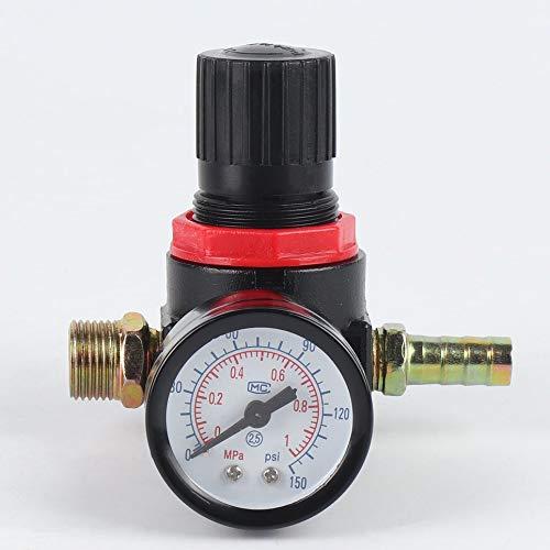 Mini 1/4 Gewinde 180PSI / 12Bar Luftdruckminderer Luftversorgungs-Behandlungseinheit mit Manometer Einfache Installation