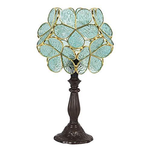 Clayre & Eef 5LL-6066 Tiffany - Lámpara de mesa (21 x 21 x 38 cm, E14, máx. 1 bombilla de 25 W)