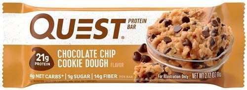 Quest Nutrition Protein Bar, Box of 12, Chocolate Chip Cookie Dough