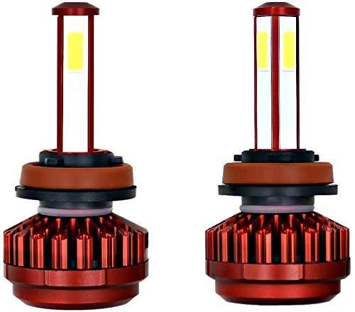Gaolx Luz antiniebla para automóvil Luz de 4 Lados R7 Bombillas de Faros LED automotrices Luz de circulación Diurna Accesorios de iluminación Fácil y Simple de Instalar (Color: H4 / Hb2 / 9003)