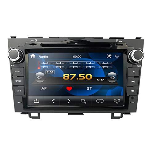 hizpo 8 Zoll Auto Stereo Radio DVD Player GPS Mirrorlink Bluetooth OBD2 Multi Touchscreen Unterstützung Lenkradsteuerung Rückfahrkamera für Honda CRV 2007 2008 2009 2010 2011