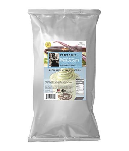 MOCAFE Frappe Vanilla Latte Reduced Sugar Added Ice Blended Coffee, 3-Pound...