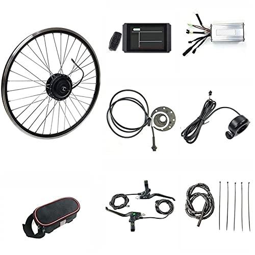 SKYWPOJU 48V 1000W Kit de Motor de Montaje de Cubo de Rueda Trasera con Pantalla LCD8H Kit de conversión de Bicicleta eléctrica para 20'24' 26'27,5' 28'29' 700C Rueda eléctrica en Pulgadas