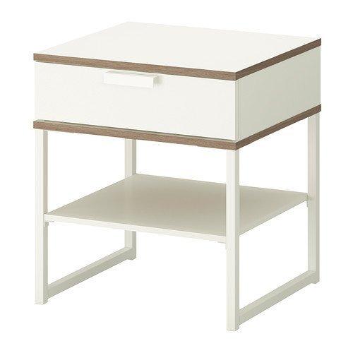 IKEA TRYSIL - Bedside Table White Light Grey - 45x40 cm