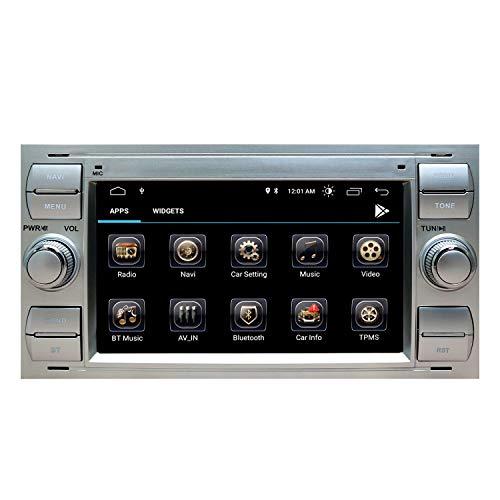 Autoradio Stereo Radio Ford Focus Mondeo Kuga C-Max S-Max Kuga Galaxy mit Android 9.0 Doppel 2 Din Sat NAV 7 Zoll HD Touchscreen Head Unit GPS Navigation DVD-Player Bluetooth WiFi Backup-Kamera USB