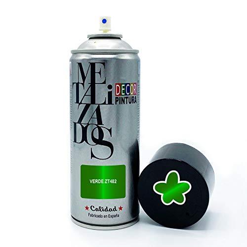 Vernice spray metallizzata verde, 400 ml, per legno, metallo, ceramica, plastica/vernice radiatori, bicicletta, auto, plastica, microonde, graffiti