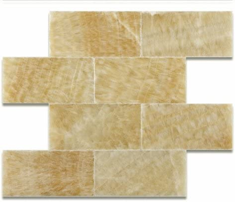Honey Onyx 3 X 6 Polished Long Beach Mall Premium Brick Tile Subway 5 - Box of 70% OFF Outlet