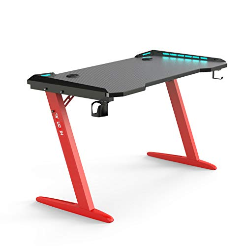 Ergonomic Computer Gaming Desk 45' Z Shaped Home Office PC Computer...