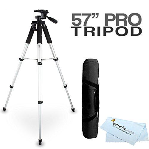 57 Camera Tripod w/ Carrying Case For Nikon Coolpix P600, P610, P530, P520 P510 S9300, D800 L620, S4200, S5200, S9200, S9400, S9500, S6500, S6600, S6800, S5300, L330, L340, L830, L840 Digital Camera
