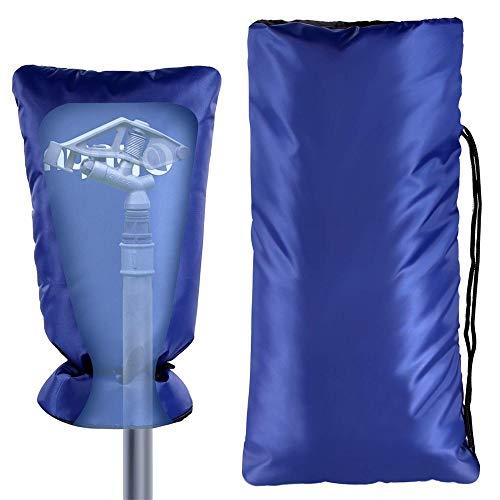 No-brand 51X25cm Bleu extérieur Hiver Robinet Meubles Protection Anti Gel Cache Anti-poussière étanche Couverture, Robinet Anti-Frozen Crack Cover / 2PCS