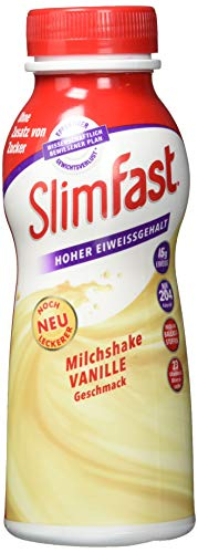 SlimFast Fertigdrink Vanille 3er Pack I Fertiggetränk mit hohem Eiweißanteil & reduzierten Kalorien I Gebrauchsfertige Trinkmahlzeit für eine gewichtskontrollierende Ernährung I 3 x 325 ml