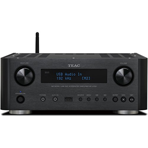 Teac NP-H750-B Network/USB DAC Integrated Amplifier and Receiver (Black)