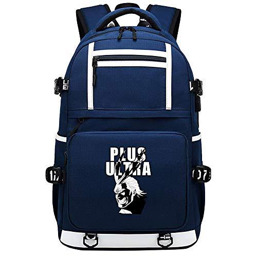 XYUANG My Hero Academia deku/Todoroki Shoto USB Anime Zaini Casual backpack Daypack per bambini portatili zaino-E
