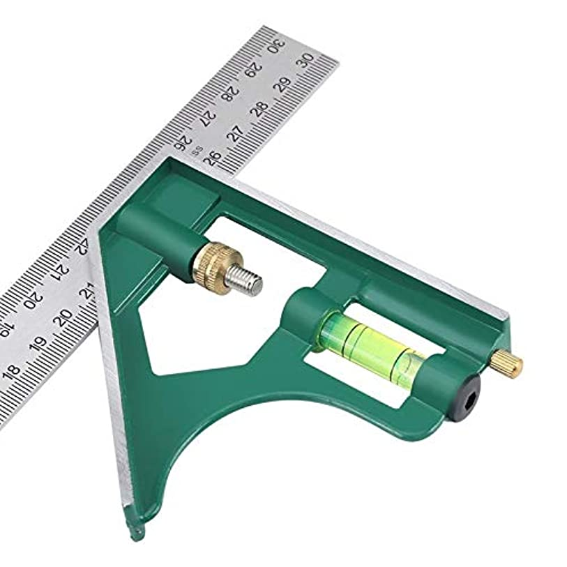 ボイラー自治ナンセンスRCDD バブルのレベルのマシニスト教育ゲージ測定ツールでMOKIN 12「」の角度定規コンビネーションスクエア定規90分の45度