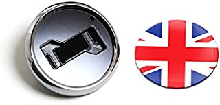 GoBadges CKC012 Flag UK - Magnetic Chrome Grill Badge Holder Combo/Universal Fit/No Tools Required/Weather-Proof and Car-Wash Safe