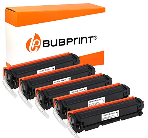 Bubprint 5 Toner kompatibel für Canon 045H 045 H i-Sensys LBP611CN LBP612CDW LBP613CDW LBP613CW MF631CN MF632CDW MF633CDW MF634CDW MF635CX Set