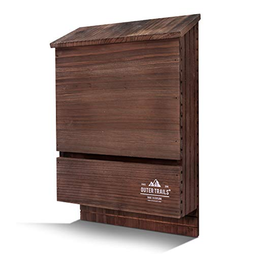 Outer Trails Two-Chamber Bat House - Brown