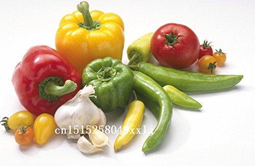 Hot! 20 Couleurs 100seeds / sac piments Poivre Graines de semis de graines de légumes peuvent facilement les types d'automne Saisons
